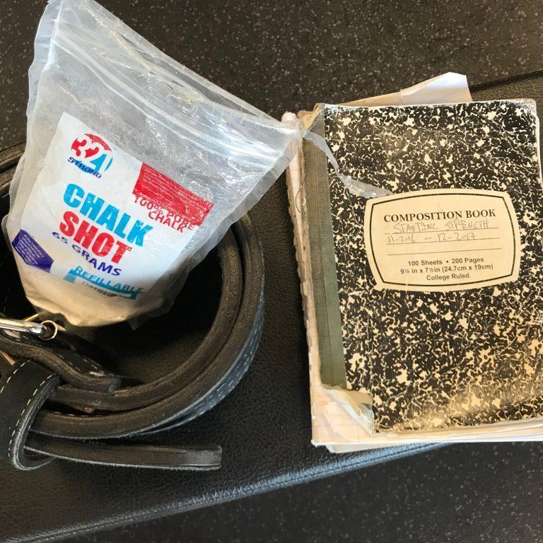 Notebook, Chalk and Belt